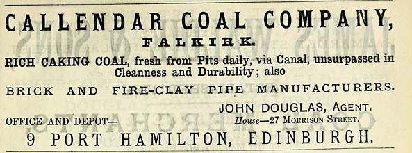 Callendar brickworks 1882 - 1883