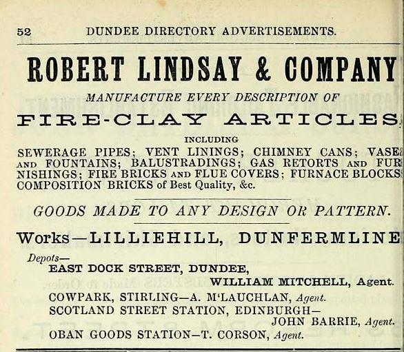 Lilliehill brickworks 1882 1883