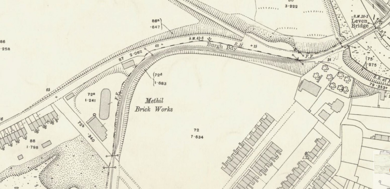 Methil Brickworks OS Map 1913