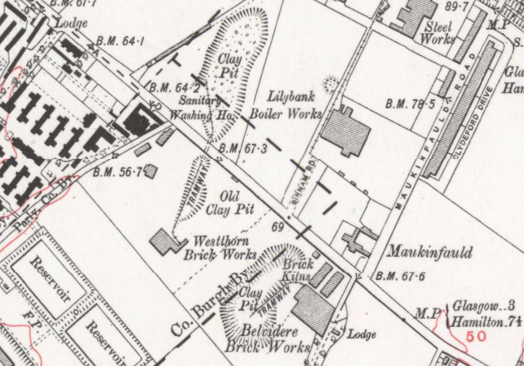 Westthorn and Belvidere brickworks 1914