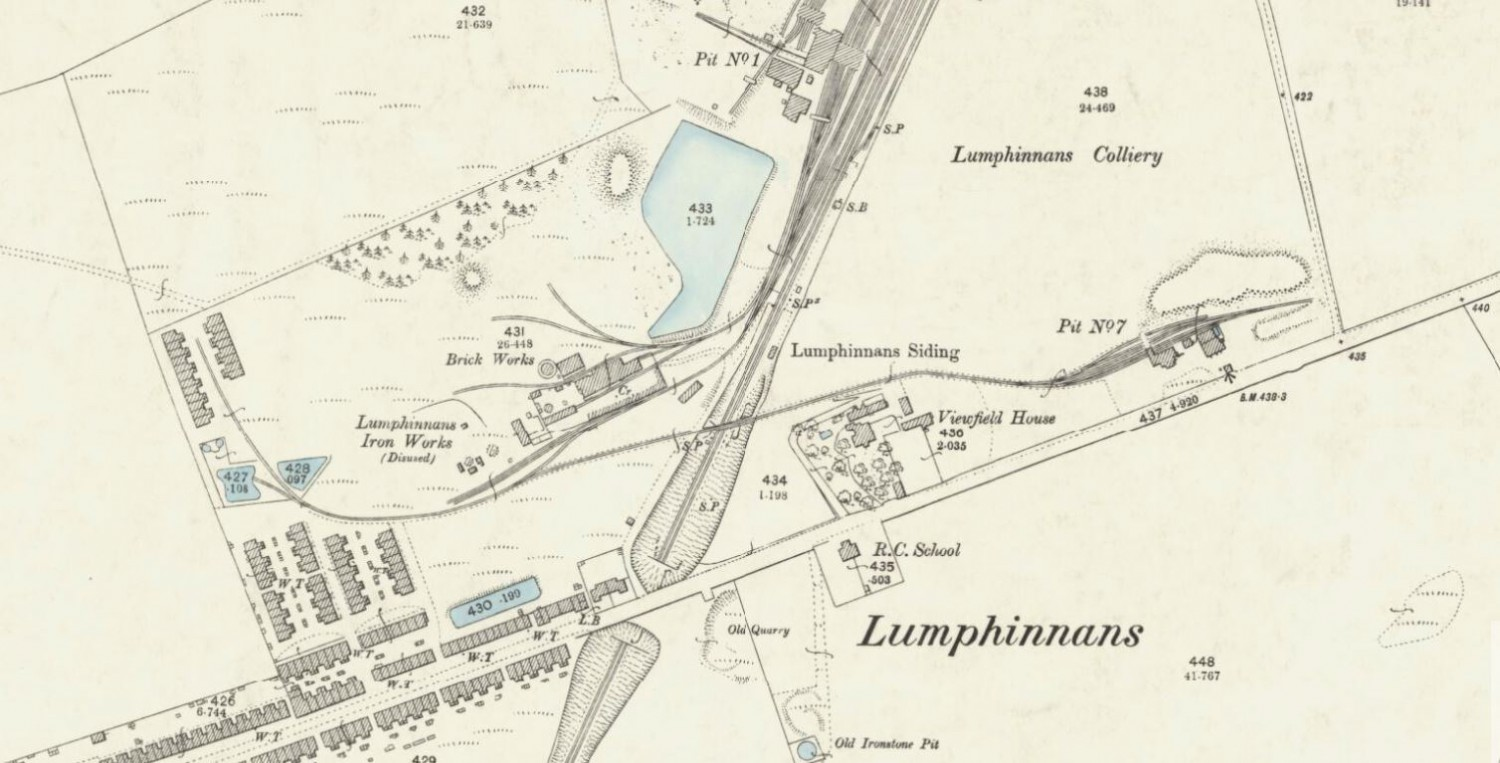 1894 OS Map - Lumphinnans Brickworks