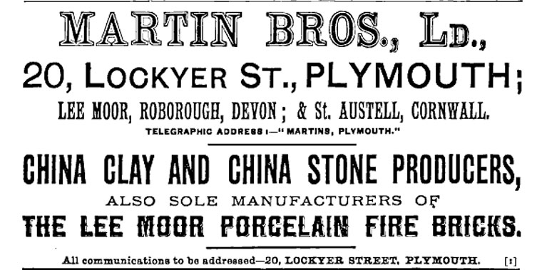 1899 Advert for Martin Bros