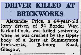 Fatality Summerston Brickworks