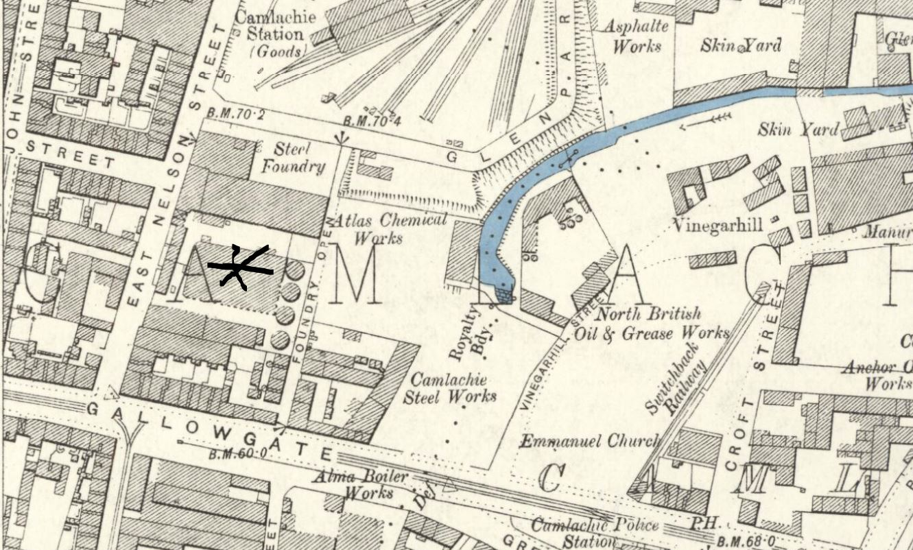 OS Map 1892-3 Crown Fireclay Works