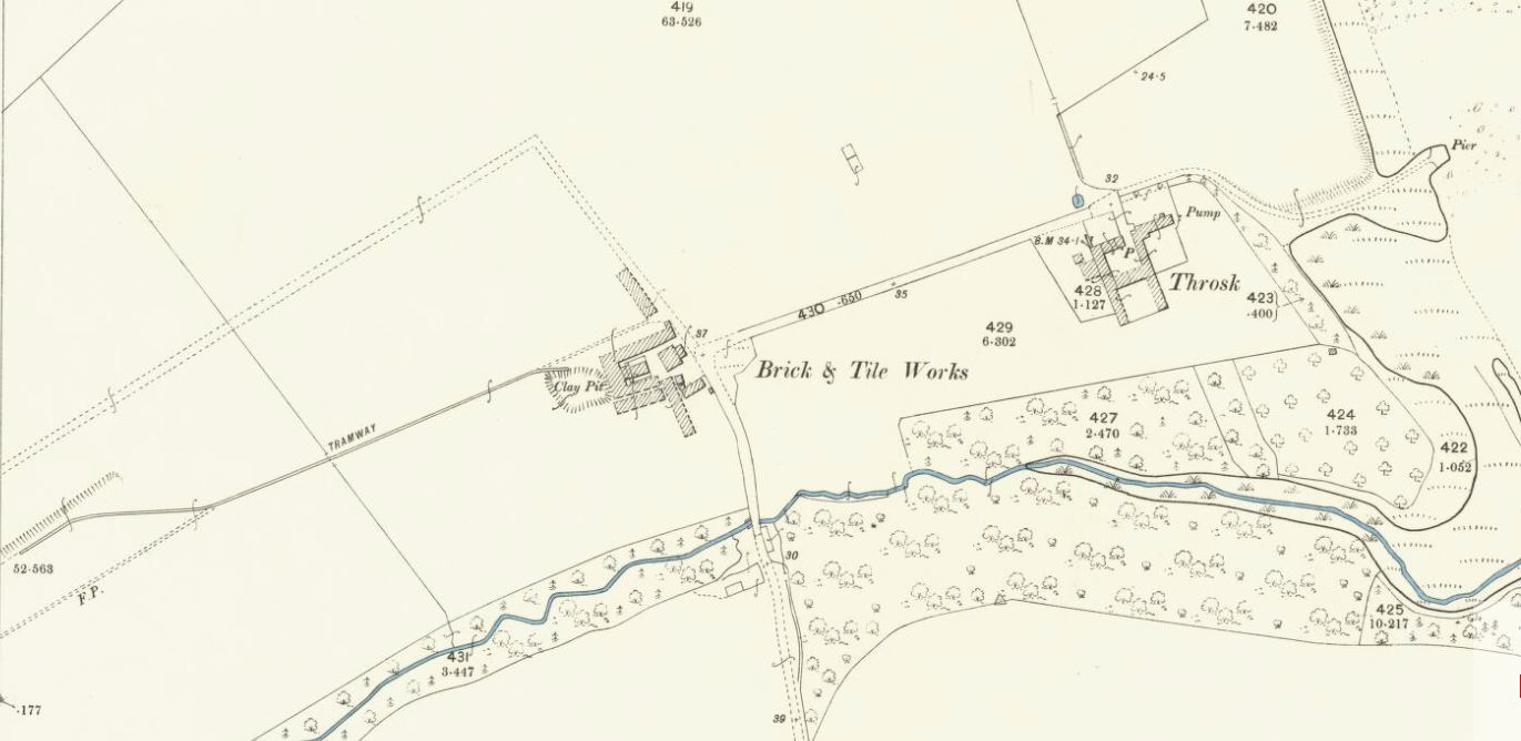 OS Map Throsk Brickworks - 1896