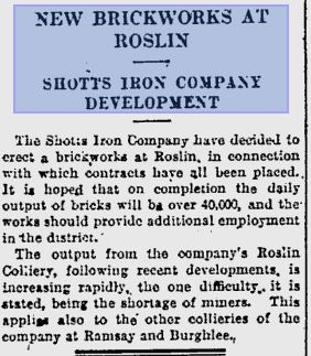 Roslin Brickworks Glasgow Herald 10-03-1937