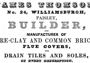 Thomson, Williamsburgh Advert