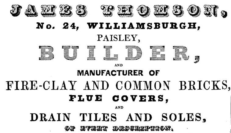 Thomson, Williamsburgh Advert