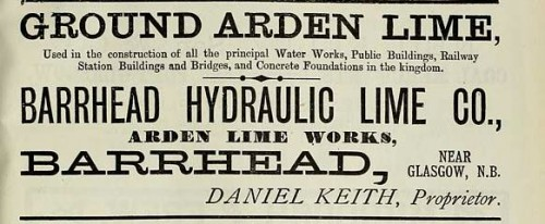 1886 arden lime barrhead