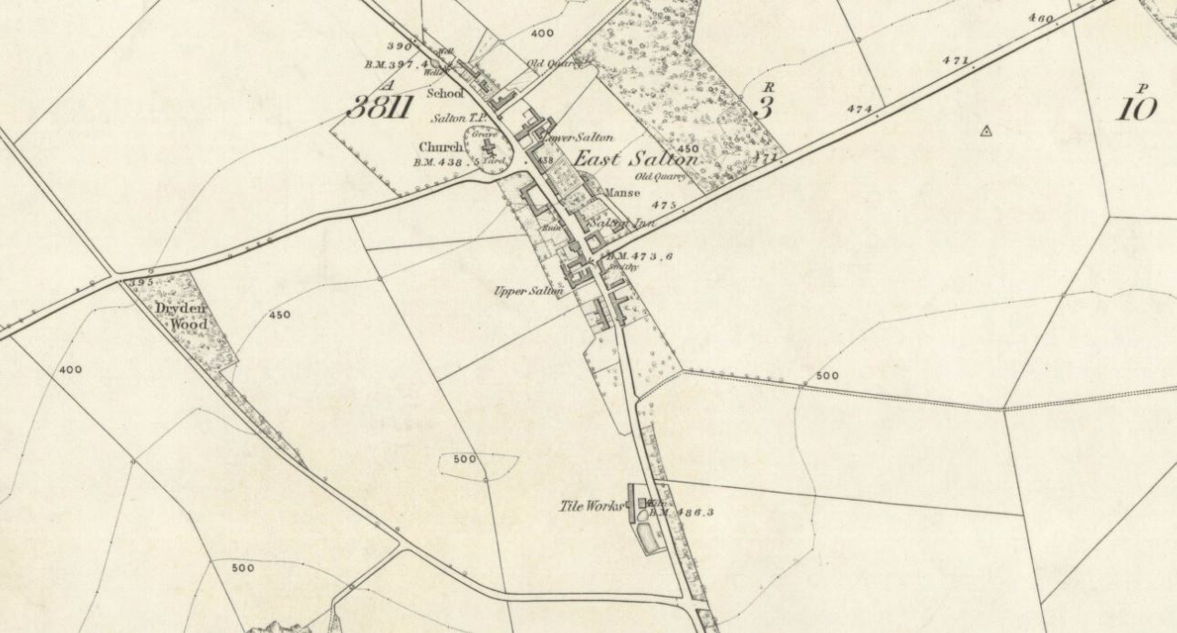 Below - OS Map 1853 - Salton Tile Works