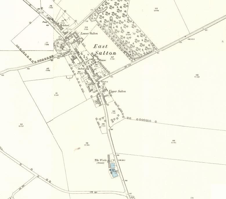 Below - OS Map 1895 - Salton Tile Works