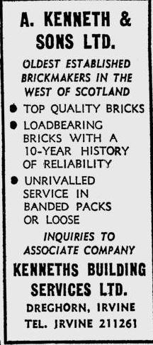 Kenneth brickmaker Dreghorn Irvine