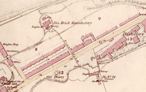 1854 OS Map Kinneil Fireclay Works