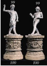 A PAIR OF ENGLISH STONEWARE PEDESTALS BY J.& M. CRAIG LTD, KILMARNOCK, CIRCA 1900