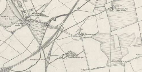 Below - 1858 - 59 OS Map - Gartverrie Fire Clay Works, Glenboig,. Coatbridge