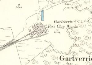 Below - 1896 - OS Map - Gartverrie Fire Clay Works, Glenboig, Coatbridge