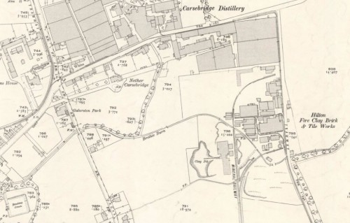 Below - 1920 OS Map - Hilton Fireclay Works, Alloa