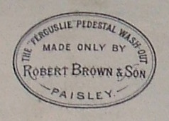 The Ferguslie Pedestal Wash Out Made Only By Robert Brown & Son Paisley