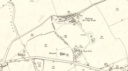 1892 OS Map Bankpark Fire and Clay Works, Preston Pans