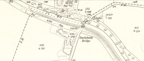 1910 OS Map Provenhall Fireclay Works