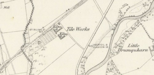 1860 brick and tile works Drumquharn
