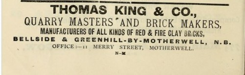 1893 Thomas King & Co Advert