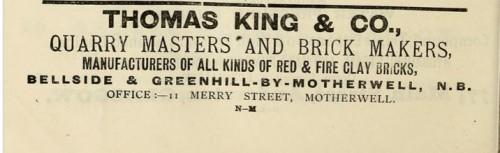 1893 Thomas King & Co Advert