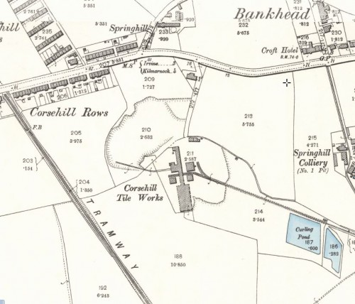 1896 Corsehill tile works