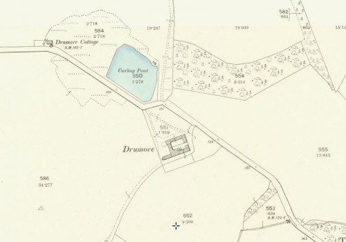 1896 OS Map Drmore Tiel works - curling pond