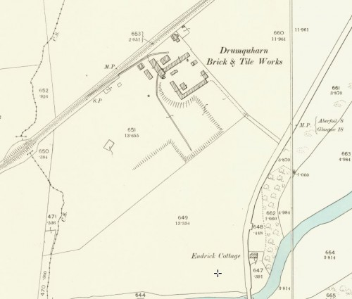 1896 OS Map - Drumquharn brick and tile works