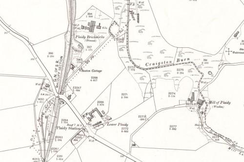 1900 Plaidy brickworks, Aberdeenshire