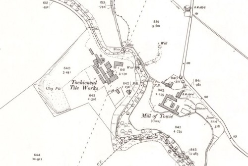 1904 OS Map - Tochieneal Tileworks