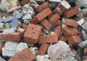Unidentified bricks Aberdeen with tool impressions