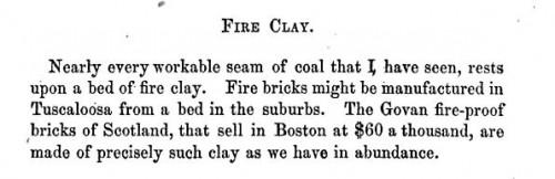 Govan fire clay Alabama