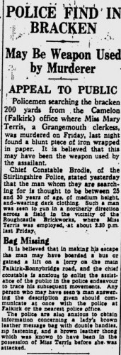 Terris murder weapon found