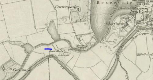 Unidentified brickworks near Carron, Falkirk