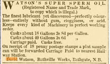 watson bathville oil works 1878 advert