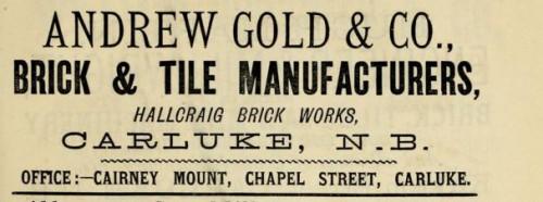 1882 Andrew Gold Hallcraig, Carluke