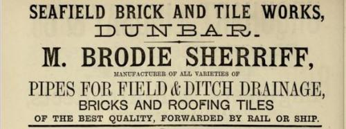 1882 Brodie Sheriff Seafield Dunbar advert
