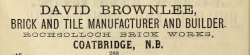 1882 David Brownlee Rochsolloch Coatbridge