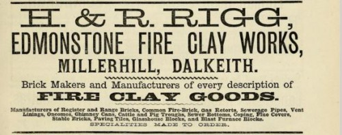 1882 H & R Rigg Edmonstone Millerhill Dalkeith