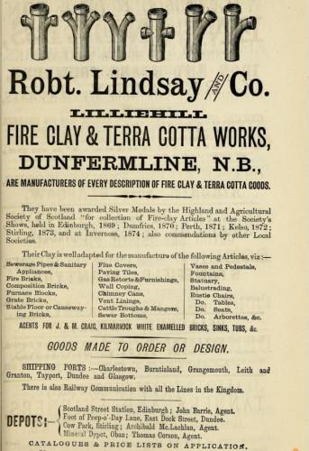 1882 Robert Lindsay Lilliehill Dunfermline