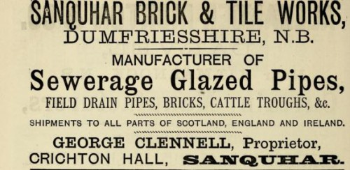 1882 Sanquhar Dumfriesshire George Clennel advert