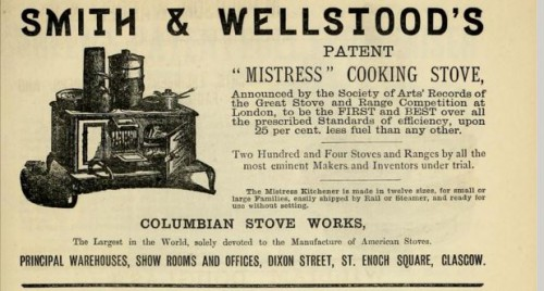 1882 Smith and Wellstoods stove advert
