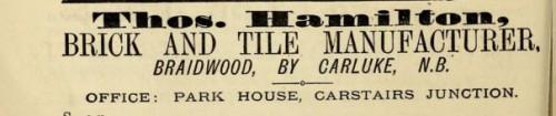 1882 Thomas Hamilton Braidwood Carluke