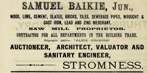 1893 Baikie Stromness