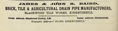 1893 James & John Baird, Kirkmuirhill