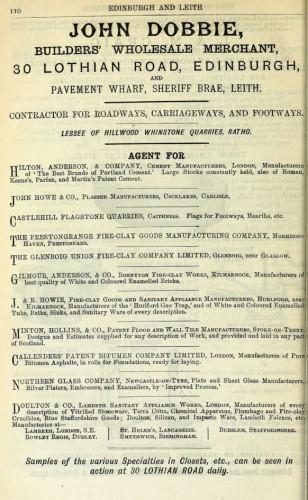 Dobbie edinburgh 1886