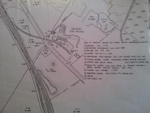 Law Junction tile works carluke map. waterlands
