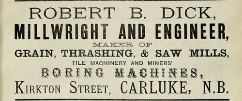 robert dick tile machine maker carluke advert